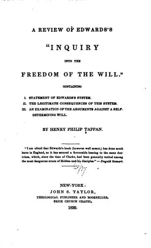 "Download A review of Edward's ""Inquiry into the freedom of the will."""