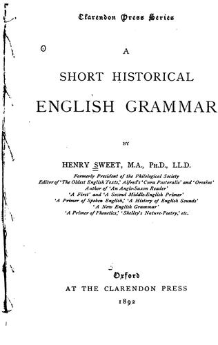 Download A short historical English grammar