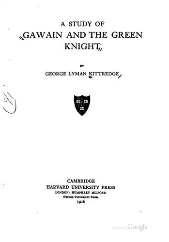 Download A study of Gawain and the Green Knight