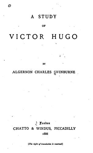 Download A study of Victor Hugo