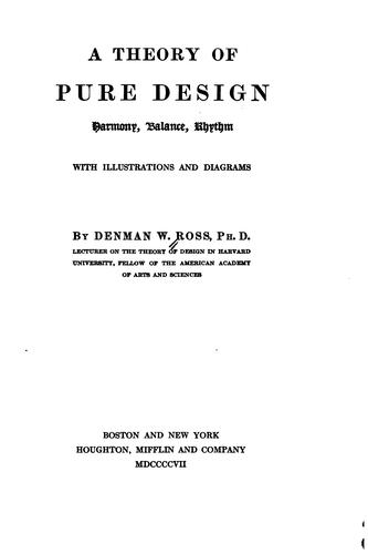 Download A theory of pure design