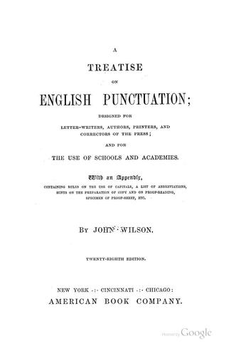 Download A treatise on English punctuation …