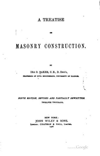 Download A treatise on masonry construction.
