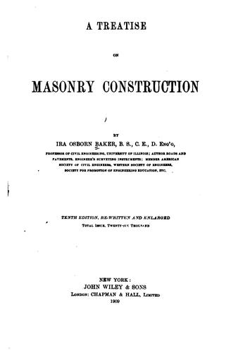 Download A treatise on masonry construction