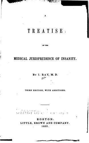 Download A treatise on the medical jurisprudence of insanity