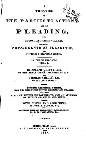 Download A treatise on the parties to actions, and on pleading