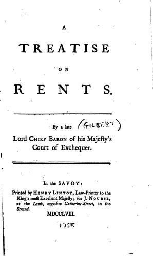 Download A treatise on rents.