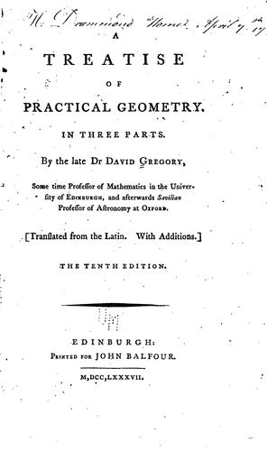 Download A treatise of practical geometry.