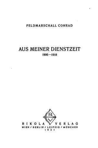 Download Aus meiner dienstzeit, 1906-1918.