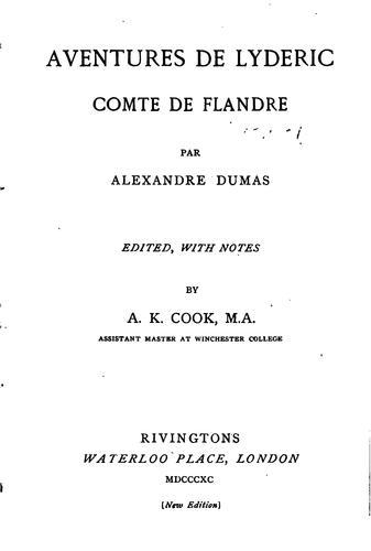 Download Aventures de Lyderic, comte de Flandre.