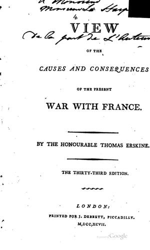 A view of the causes and consequences of the present war with France