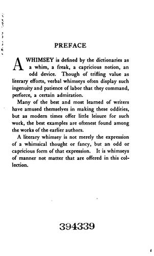 Download A whimsey anthology