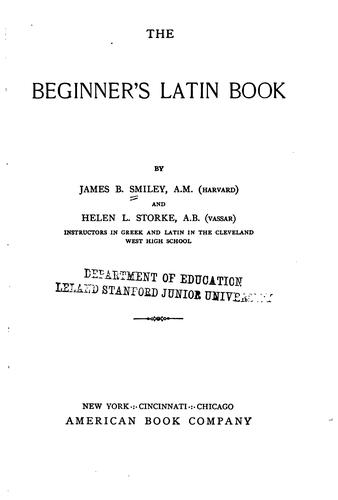 Download The beginner's Latin book