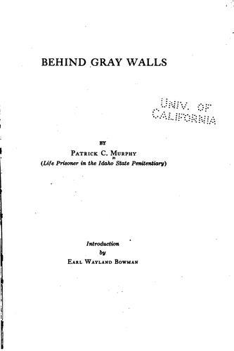 Behind gray walls
