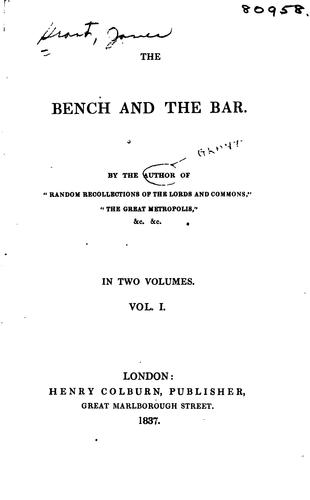 The bench and the bar