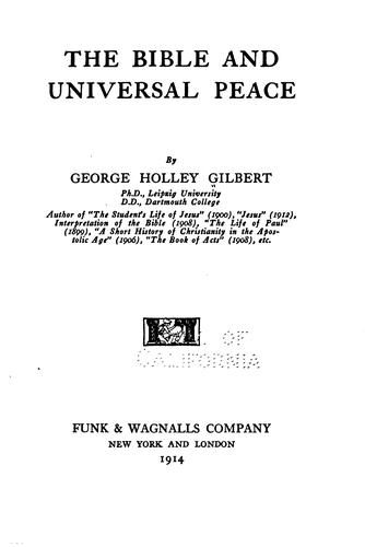 The Bible and universal peace
