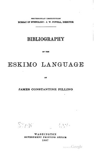 Download Bibliography of the Eskimo language