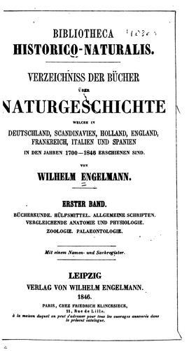 Bibliotheca historico-naturalis.