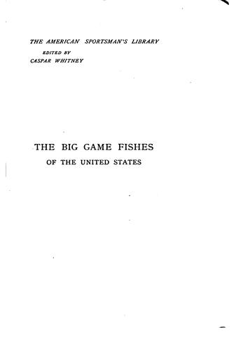 Download The big game fishes of the United States