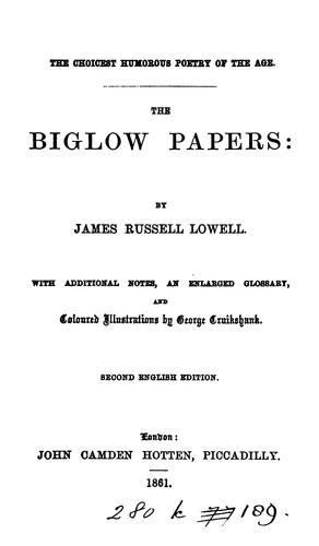 Download The Biglow papers