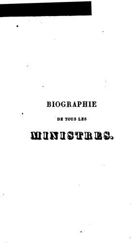 Download Biographie de tous les ministres