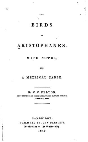 The  Birds of Aristophanes by Aristophanes