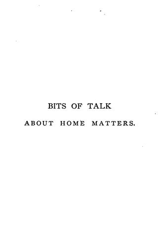 Download Bits of talk about home matters.