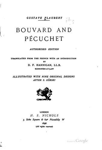 Download Bouvard and Pécuchet.