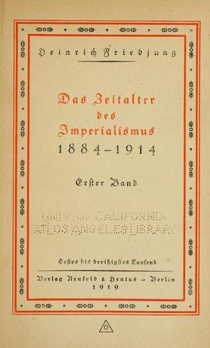 Download Das Zeitalter des Imperialismus, 1884-1914.