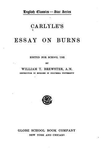 Download Carlyle's Essay on Burns