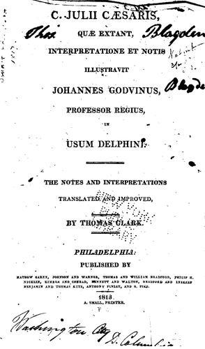 C. Julii Cæsaris, quæ extant