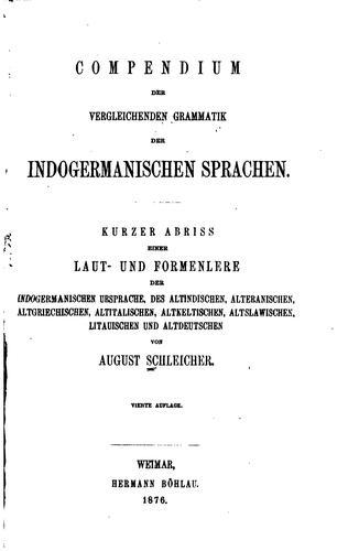 Download Compendium der vergleichenden grammatik der indogermanischen sprachen.
