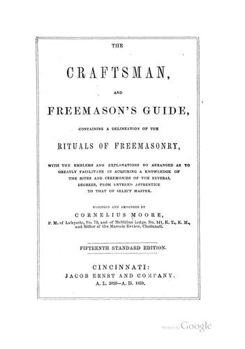 Download The craftsman, and freemason's guide