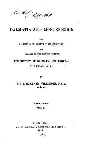 Dalmatia and Montenegro