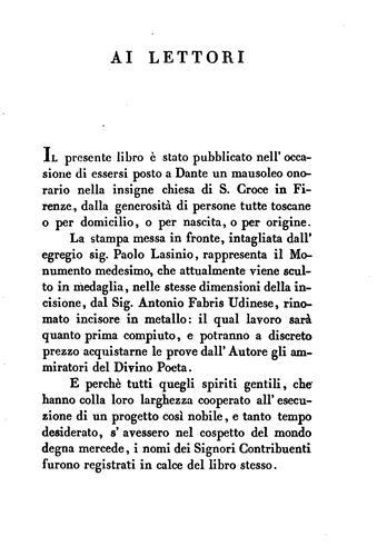 Download Delle memorie di Dante in Firenze