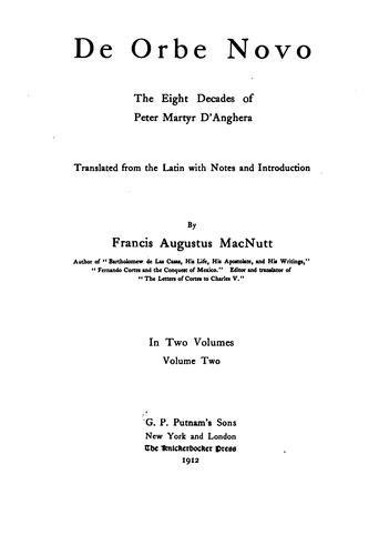 Download De orbe novo Petri Martyris Anglerii Mediolanensis