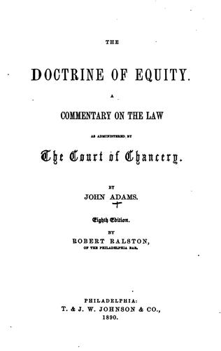 The doctrine of equity.