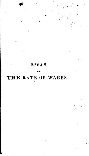 Download Essay on the rate of wages