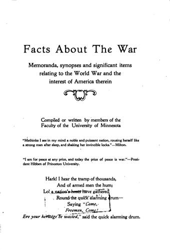 Facts about the war.