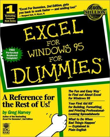 Download Excel for Windows 95 for dummies