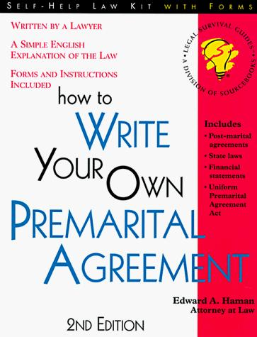 Download How to write your own premarital agreement
