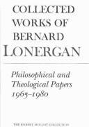 Collected works of Bernard Lonergan.