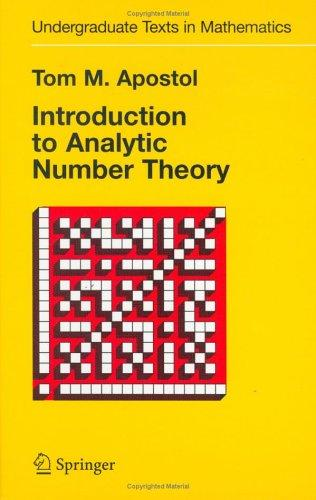Download Introduction to analytic number theory