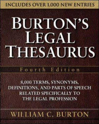 Download Burton's Legal Thesaurus