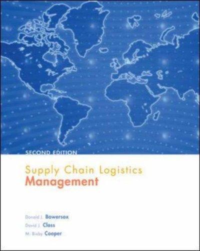 Download Supply chain logistics management