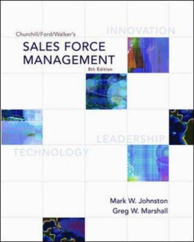Download Churchill/Ford/Walker's Sales Force Management