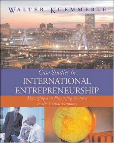 Case Studies in International Entrepreneurship