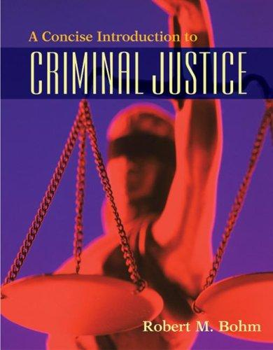 Download A Concise Introduction to Criminal Justice