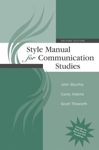 Download Style manual for communication studies