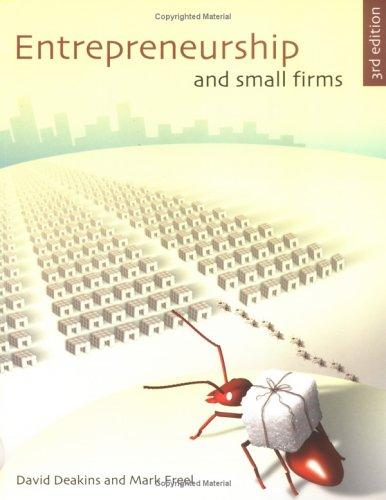 Entrepreneurship and small firms.